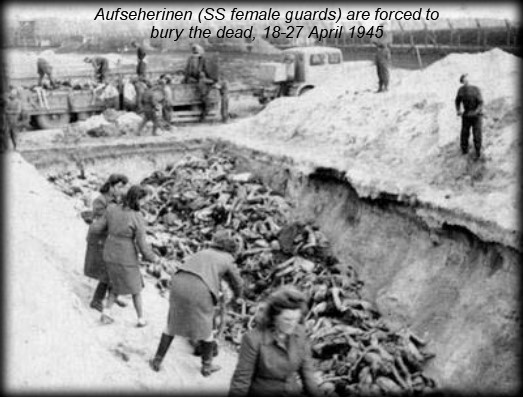 female guards burying dead
