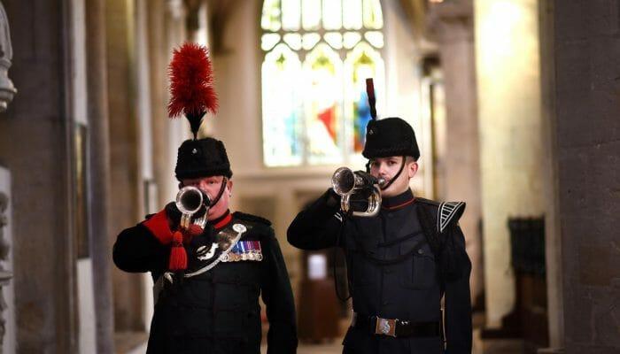 Buglers sounding Last Post & Reveille
